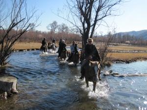 Paardrijden in Terelj in de herfst
